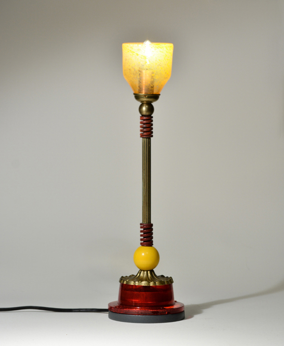 image of a small lamp sculture by artist Harry Anderson that is a link to his porfolio